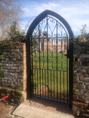 Looking at the house from the walled garden