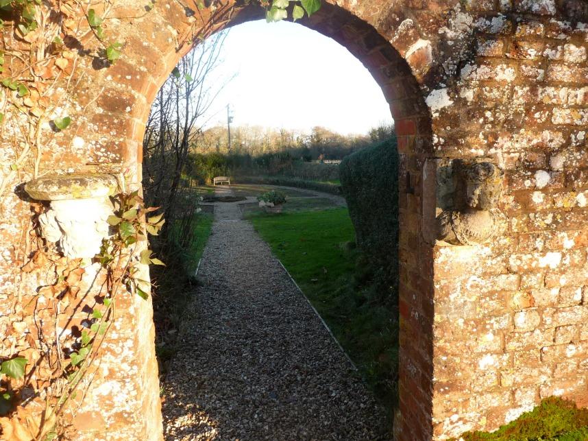 Entrance to the sunken garden